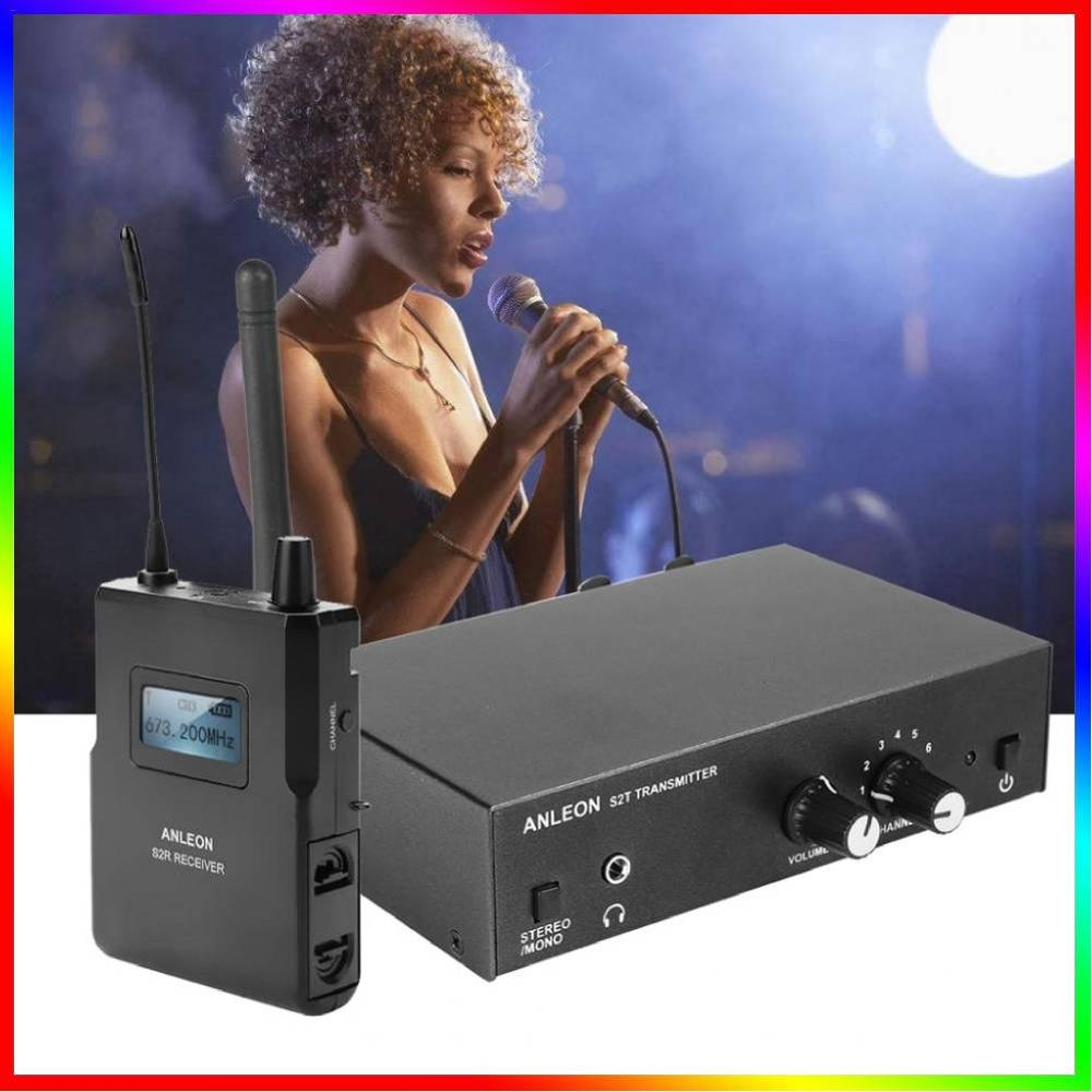 In-Ear-Monitor-System Stage Uhf-Stereo Professional Digital Wireless for ANLEON S2 670-680mhz/100-240v/Professional/.. title=