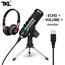 Tkl usb microfone condensador podcast microfone profissional pc streaming kit de microfones unidirecionais para a gravação do jogo youtube