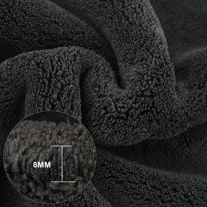 Image 2 - Myjnia samochodowa ręcznik Super ręcznik z mikrofibry czyszczenie samochodu 1200GSM produkty samochodowe Auto wosk do prania szmaty do suszenia szmat do samochodu