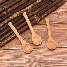 Tea-Coffee Kitchen Salt Spoon Scoop Wooden Cooking Round Small Mini Soup Jam 1pc Utensil-Tool