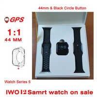 GPS IWO12 Bluetooth 44 millimetri di Smart Orologio 1:1 Frequenza Cardiaca Misuratore di Pressione Sanguigna Macchina Fotografica Musica GPS Sport Watch pk IWO11