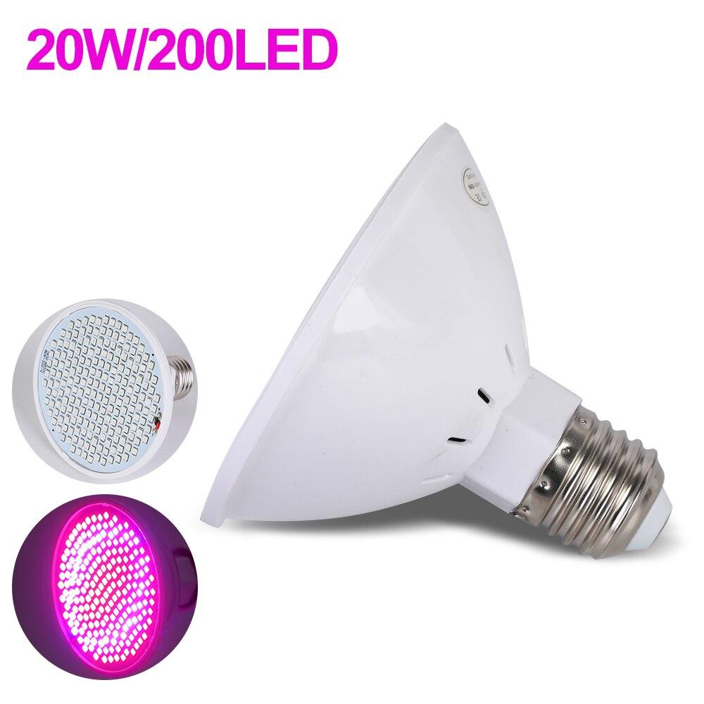 Dozzlor Phyto лампа полный спектр светодиодный светильник для выращивания E27 лампа для растений фитолампа для комнатных саженцев цветок фитолампия для выращивания палаток - Испускаемый цвет: Single lamp