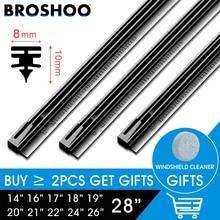 BROSHOO 1pcs Car Vehicle Insert Rubber strip Wiper Blade (Refill) 8mm Soft 1416 17 18 19 20 21 22 24 26 28Accessories