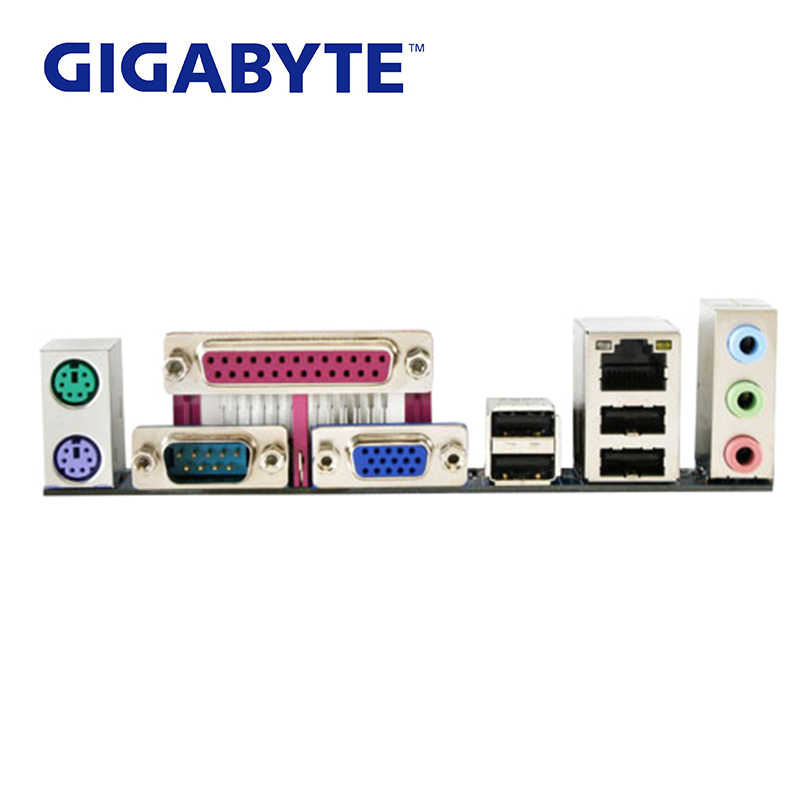 LGA 775 G31 DDR2 Gigabyte GA-G31M-S2C 100% เมนบอร์ด USB2.0 4G G31M S2C เดสก์ท็อป SATA II Systemboard G31M-S2C PCI-E X16 ใช้