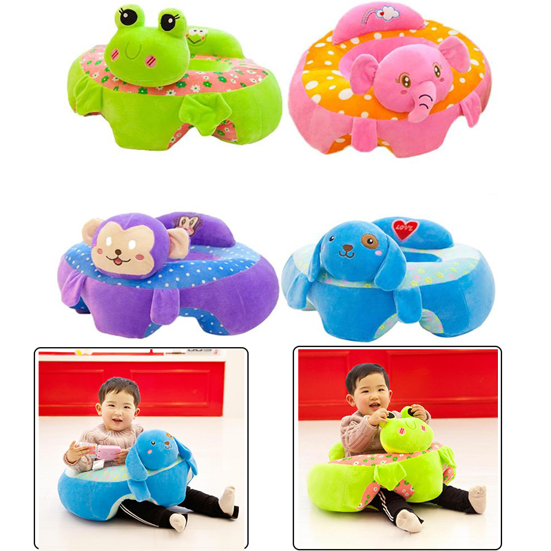 Infant Baby Sofa Seat Cover Cartoon Kid Feeding Chair Sofa Skin Kids Plush Seat Support Children Learn To Sit Training Plush Toy