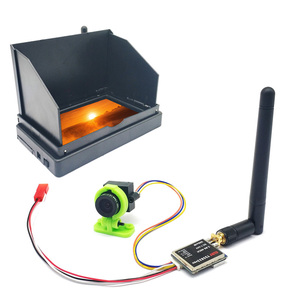 5.8G 48CH 4.3 Inch FPV Monitor 480x272 Build-in Battery Video Screen with 5.8G 600mw Transmitter TS5823 Pro+CMOS 1000TVL Camera(China)