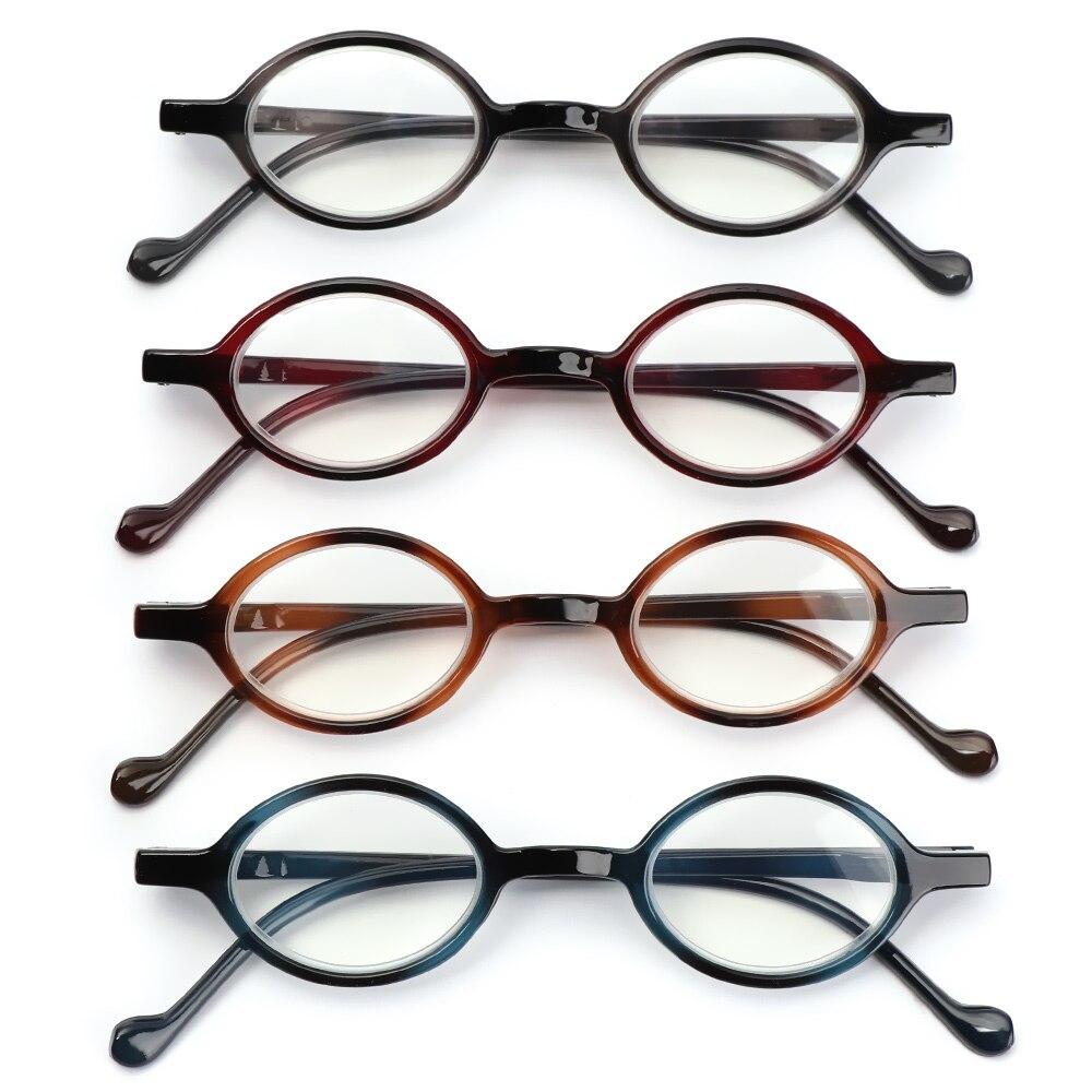 1 шт. круглые винтажные очки для чтения + 1,0 ~ + 4,0 лёгкие очки для чтения для мужчин и женщин с пружинной петлей плоские зеркальные очки 2020