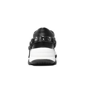 Image 3 - Morazora 2020 最新のカジュアルシューズ女性スニーカークリスタルレースアップ本革シューズ快適なフラット厚底靴の女性