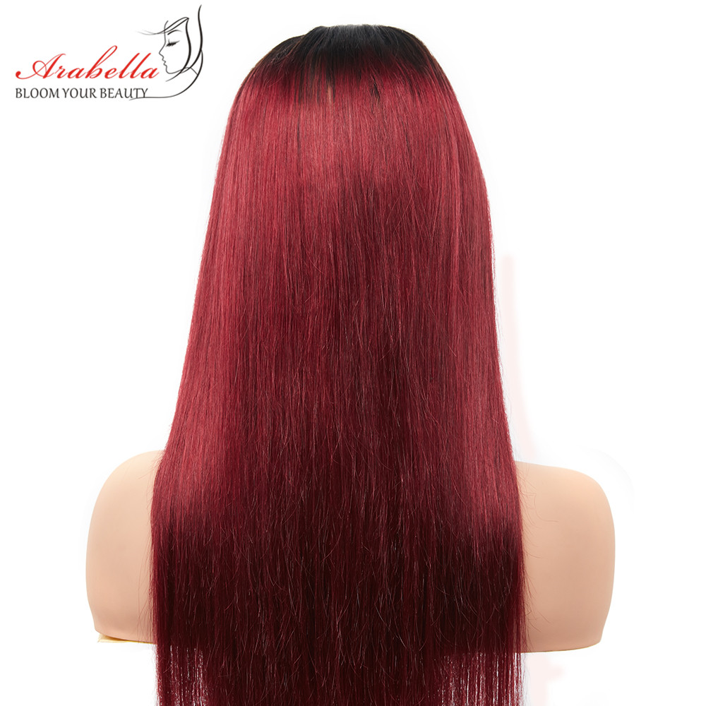 Arabella 1B/27 Straight Hair Lace Front Wig With Baby Hair Pre Plucked  Hair 13*4 Lace Front Wig Colored  Lace Wig 4