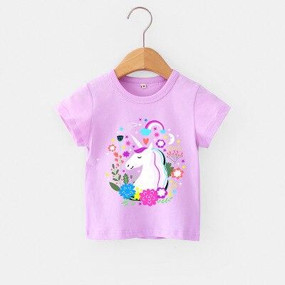 VIDMID Children Summer Clothing Girls Short Sleeve Tees Tops Clothes Kids Cartoon Print T-shirt Baby girl cotton T-shirt 4018 04 5