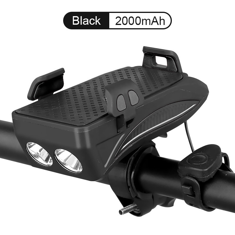 WasaFire 400lm USB luces delanteras de bicicleta multifunción soporte de teléfono de bocina de bicicleta Powerbank 4 en 1 linterna de ciclismo lámpara de cabeza|Luz de bicicleta|   - AliExpress