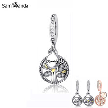 Original 100% 925 Sterling Silver Charm Bead Family Heritage Pendant Charms Tree of Life Fit Pandora Bracelets Women DIY Jewelry(China)