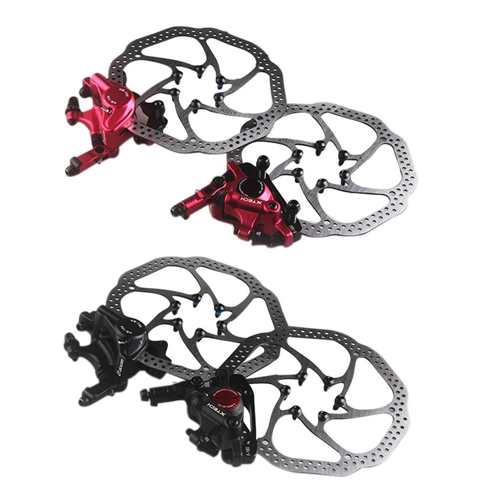 VTT vélo de route vélo alliage d'aluminium jeu de frein à disque mécanique avant et arrière comprennent 1 Rotor de ligne centrale