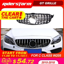 Gt grille For W205 Front GTR Grill for Mercedes Benz W205 c180 c200 c250 c300 c43 2015+ Grille 2019 front racing grille