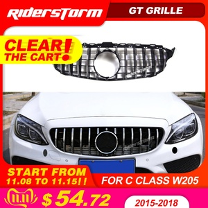 Image 1 - Gt grille For W205 Front GTR Grill for Mercedes Benz W205 c180 c200 c250 c300 c43 2015+ Grille 2019 front racing grille