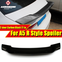 For Audi A5 2 door AER Style High kick duckbill Trunk Spoiler Wing Car Decoration Carbon Fiber Rear Diffuser Wings Spoiler 17 in