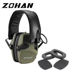 Zohan Paraorecchie Elettronico NRR22DB Singolo Microfono Caccia Paraorecchie Tiro Tattico di Protezione Dell'udito E Auricolari di Ricambio Tazza