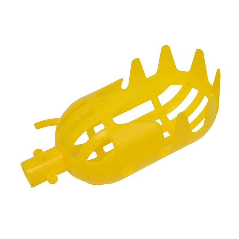 1pcs Practical Yellow Plastic Fruit Picker Without Pole Fruit Catcher Gardening Farm Garden Picking Tool