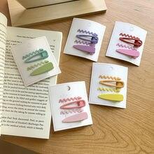 Новый матовый конфеты Цвет очаровательные заколки для девочек