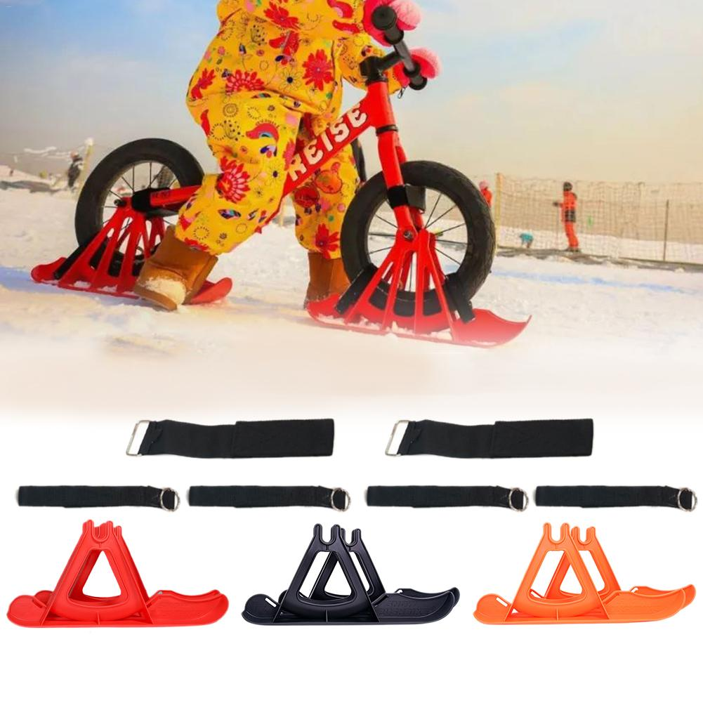Children's Balance Car Skis Professional 12-inch Children's Balance Car Skis Snowboard Sled Children's Winter Skiing Competition