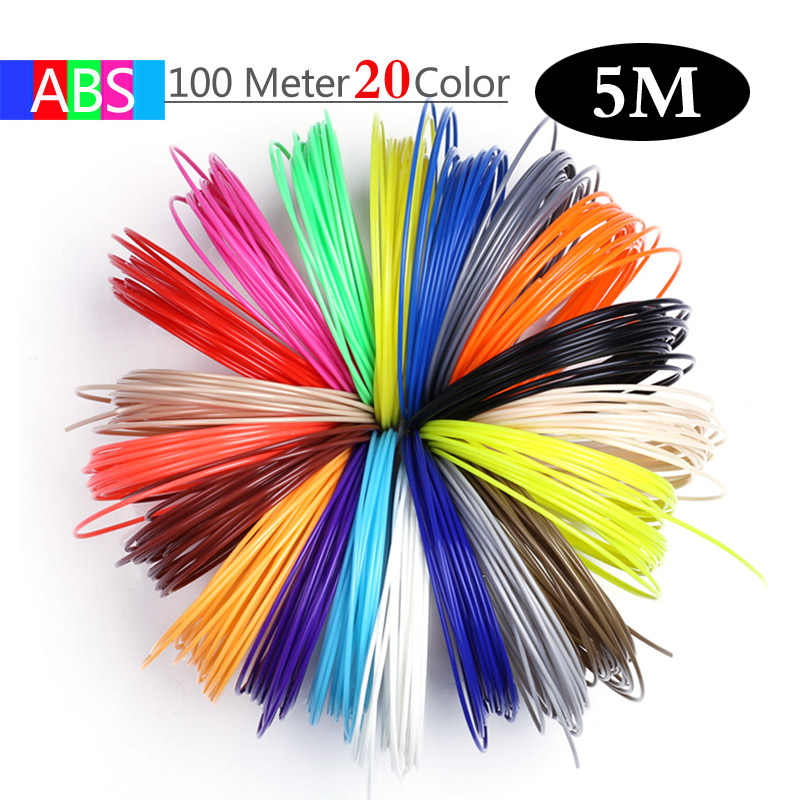Aveiro 3D ปากกา 50/100/200 เมตร 1.75 มม.ABS Filament หัวข้อพลาสติก 3 d เครื่องพิมพ์วัสดุ refil สำหรับวาดเด็กของเล่น