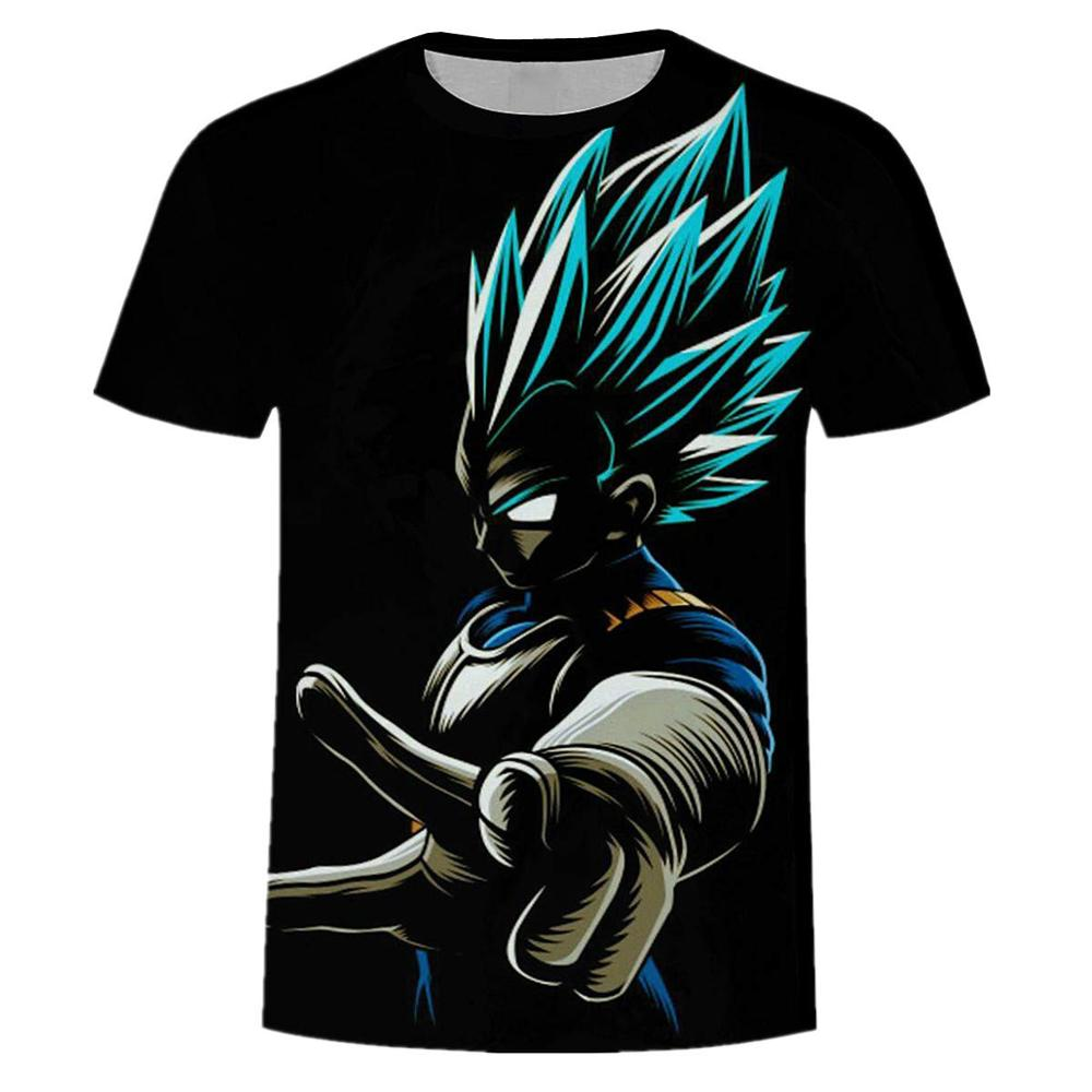 2019 New Men's T-shirt Summer Fashion Dragon Ball DBZ Bulma Super Saiyan Vegeta 3d Print Kids Goku T Shirt  Japan Anime Tshirts