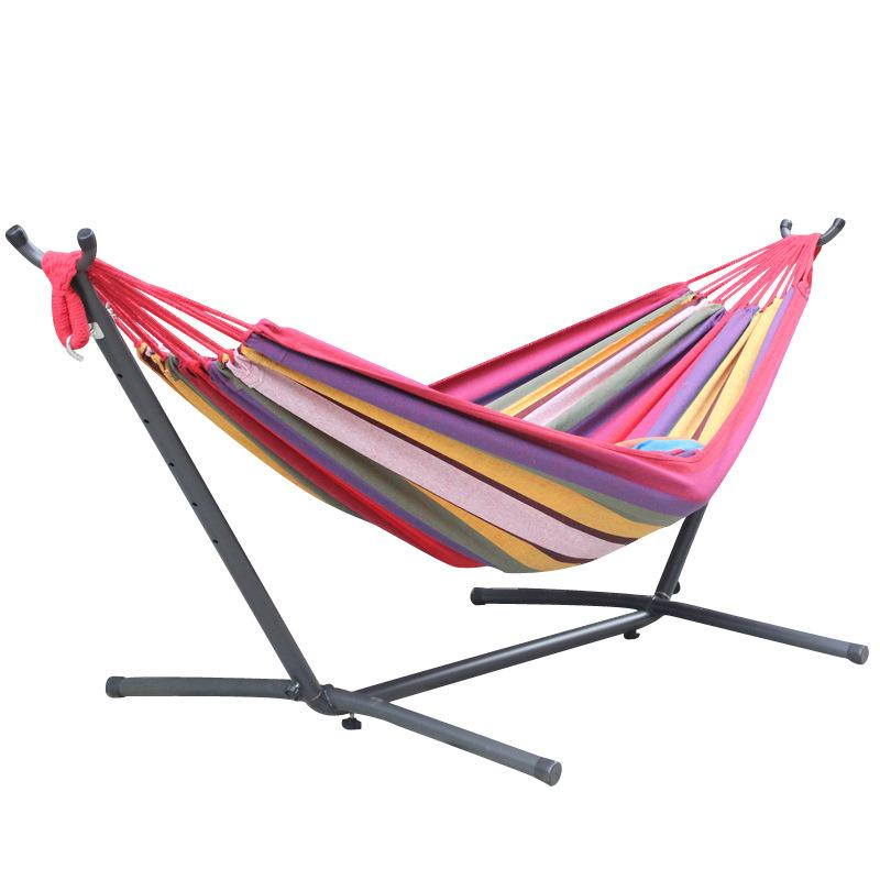 2 Person Hammock Without Stand Canvas Outdoor Hammock 240*150cm Outdoor Leisure Bed Hanging Bed Double Sleeping Swing Camping