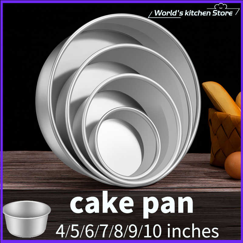 """6/"""" Aluminum Alloy Removable Bottom Round Cake Baking Mould Pan Bakeware Tool"""