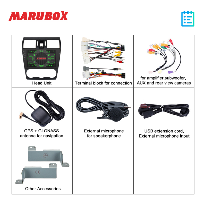 Image 5 - Marubox KD9108 DSP, 64 GB Head Unit for Subaru XV, Impreza 2012 +, Forester 2013, Car Multimedia Player with Android 9.0, 8 CoreCar Multimedia Player   -