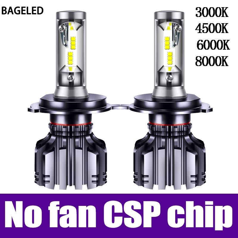 BAGELED H4 LED Lamp H7 LED H11 H8 9006 9005 HB4 H1 H3 HB3 CSP 4500K Car Auto Headlight 50W 6000LM Low Beam Bulb Automobile Lamp
