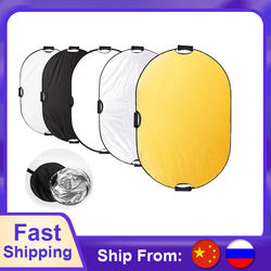 Selens 5 in 1 Portable Multi 40x 60/100 x 150CM Camera Lighting Reflector/Diffuser Kit with Carrying Case for Photography