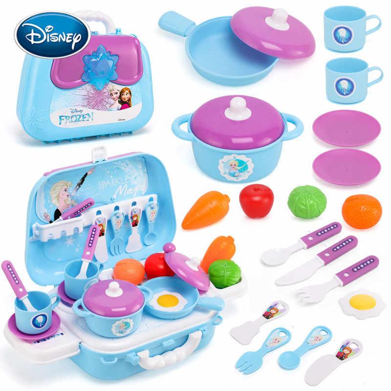 ディズニーガールギフト冷凍ロマンスキッチンカトラリーおもちゃバックパック子ままごとガールシミュレーション美容化粧玩具ツールセット