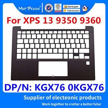 Yeni orijinal Laptop yedekleme İngiltere Palmrest üst kapak kılıfı Dell XPS 13 9350 9360 için parmak izi ile delik KGX76 0KGX76