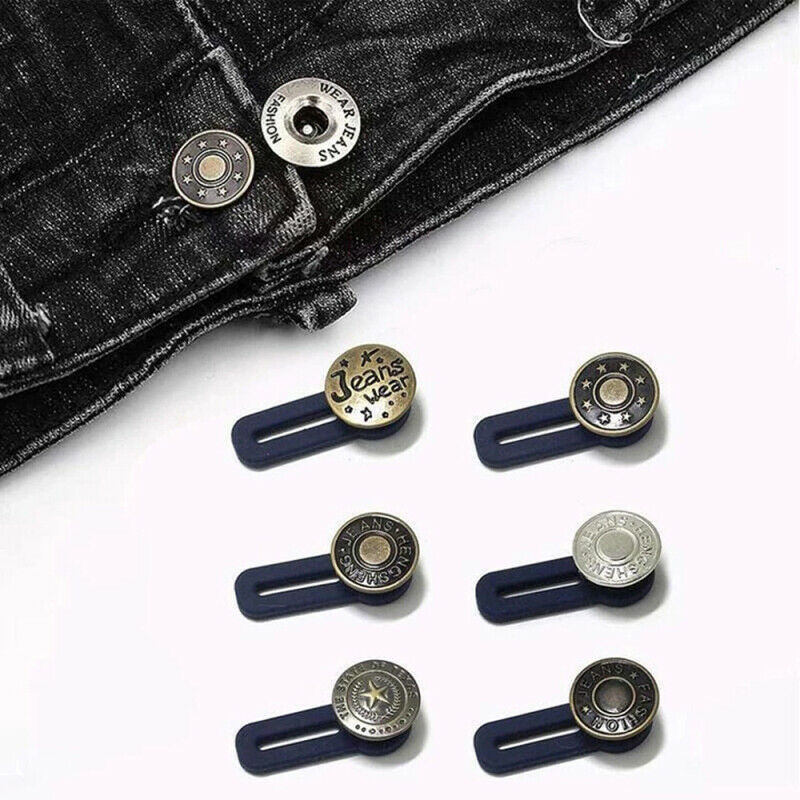 Metal Retractable Buckle Buttons For Clothing Jeans Adjustable Waistline Increase Waist Fastener Extended Button