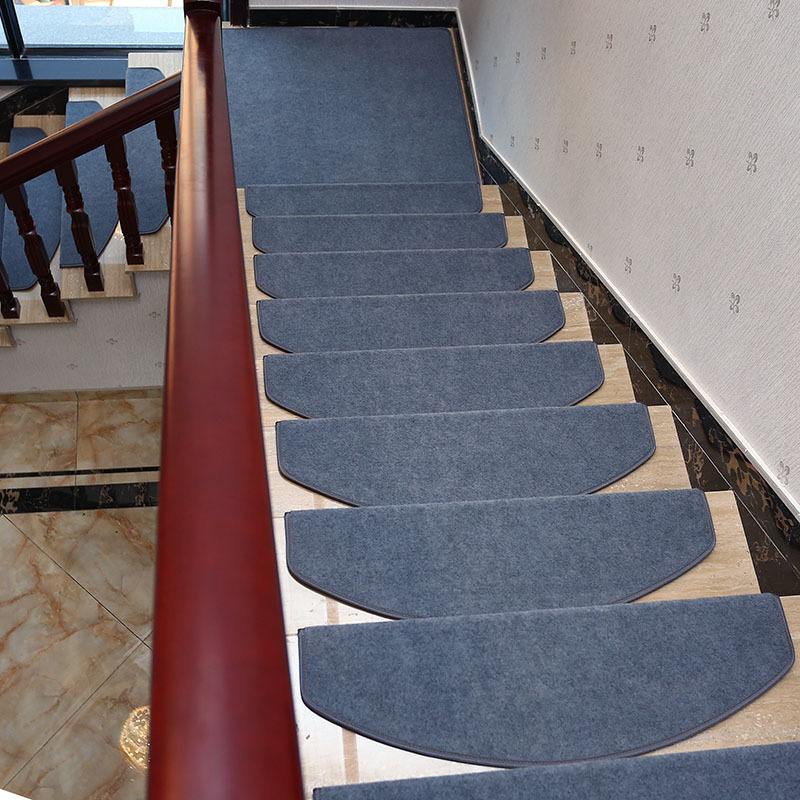14Pcs Stair Tread Carpet Mats Step Staircase Non Slip Mat | Stair Treads For Carpeted Stairs | Wood Stairs | Laminate | Anti Slip Stair | Basement Stairs | Skid Resistant