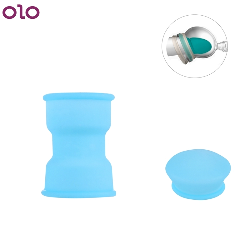 Sealed Silicone Sleeve For Penis Pump Growth Enlarger Stretcher Enhance Phallosan Connective Sleeves Glans Head Protection Cover