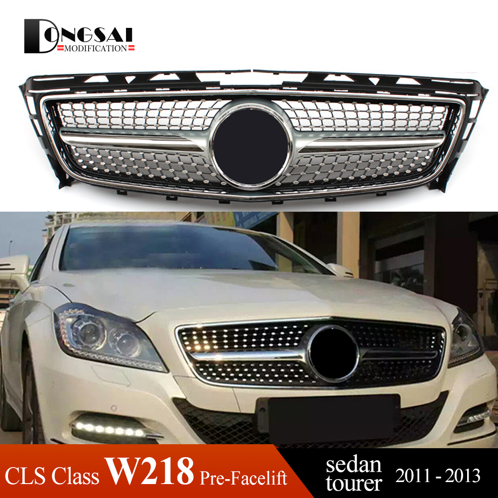Diamonds <font><b>Grille</b></font> for 2011 - 2013 Mercedes CLS Class Benz <font><b>W218</b></font> 4 Door Coupe & X218 5 Door Shooting Brake pre-facelift image