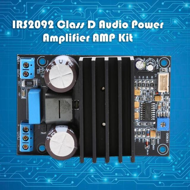Placa amplificadora Mono IRS2092 de alta potencia 200W 20A, módulo de Audio de clase D, potencia Digital de vídeo, Chips amplificadores operativas