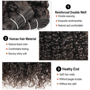 Image 5 - MOGUL HAIR 4 pcs 50g/pc 10 12 inch Brazilian Jerry Curly 3pcs 14 24 inch Natural Color Dark Brown Non Remy Human Hair