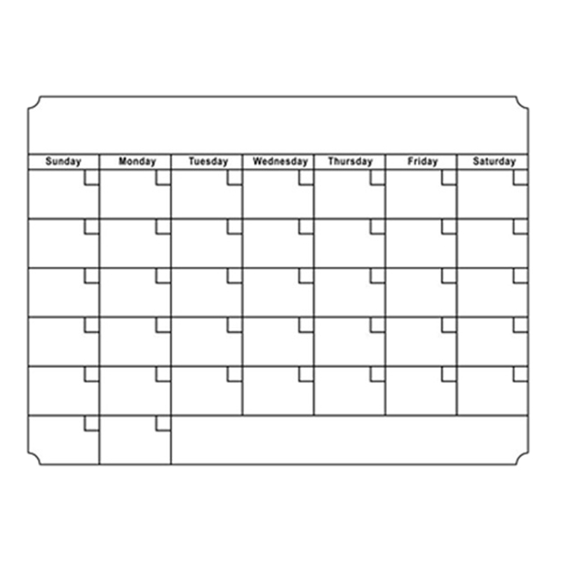 A3 Whiteboard Monthly Planner Magnetic Message Board Kitchen Daily Flexible Bulletin Memo Boards Fridge Magnet Drawing Calendar