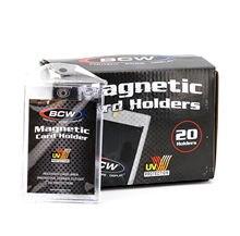 5 개/갑 BCW 35pt 마그네틱 카드 홀더 케이스-일반 MTG/TCG/YU-GI-OH 하키 카드 보호대 65X90MM 카드 슬리브 보유