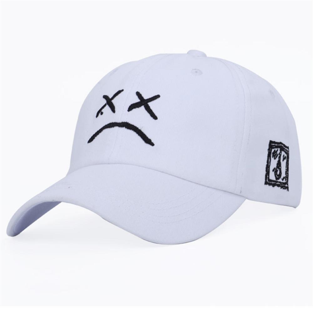Lil Peep baba şapka nakış 100% pamuklu beyzbol şapkası Sad yüz şapka xxxtentacion hip hop şapka Golf aşk lil. peep Snapback kadın erkek