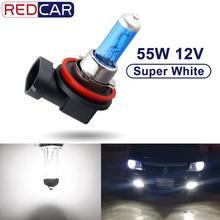 1 個 12V 55 ワット H8 ハロゲン電球 H9 H11 Led ヘッドライトスーパーホワイト 6000 18K 自動ランプ車ヘッドライト光源駐車