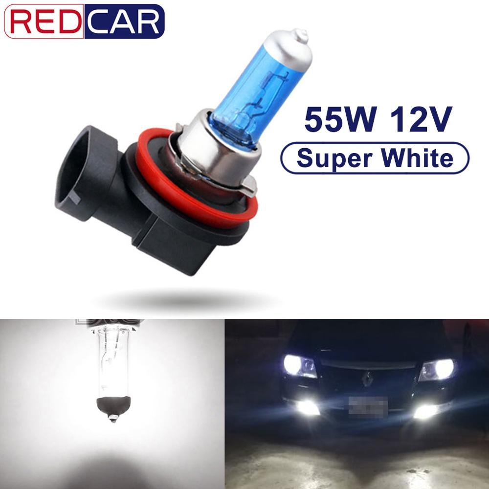 1PCS 12V 55W <font><b>H8</b></font> <font><b>Halogen</b></font> Bulb H9 H11 Led Headlight Super <font><b>White</b></font> 6000K Auto Lamp Car HeadLight Light Source parking image