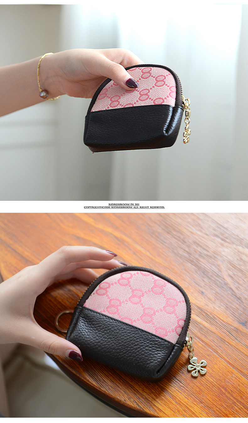 Exquisite Buckle Coin Purses Merry Christmas Pink Unicorn And Snowflakes Mini Wallet Key Card Holder Purse for Women