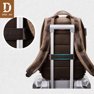 Image 5 - DIDE 2020 זכר תרמיל USB תשלום עמיד למים 15.6 אינץ מחשב נייד תרמיל עור נסיעות מזדמן בציר בית ספר תיק לגברים שחור