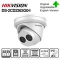 Hikvision, оригинальная, IR, фиксированная, револьверная IP Сетевая камера, 6MP, DS-2CD2363G0-I, H.265, CCTV, камера безопасности, купольная, ночное видение