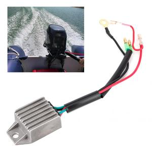 Voltage Regulator Rectifier for 2 Stroke 15HP Outboard Motor Fishing Boats Motors Silver Aluminium Alloy Voltage Stabilizer