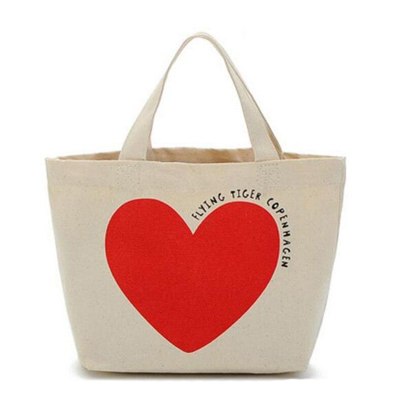 Women Portable Canvas Handbags Beach Shoulder Shopping Bags Travel Tote Picnic Lunch Bag