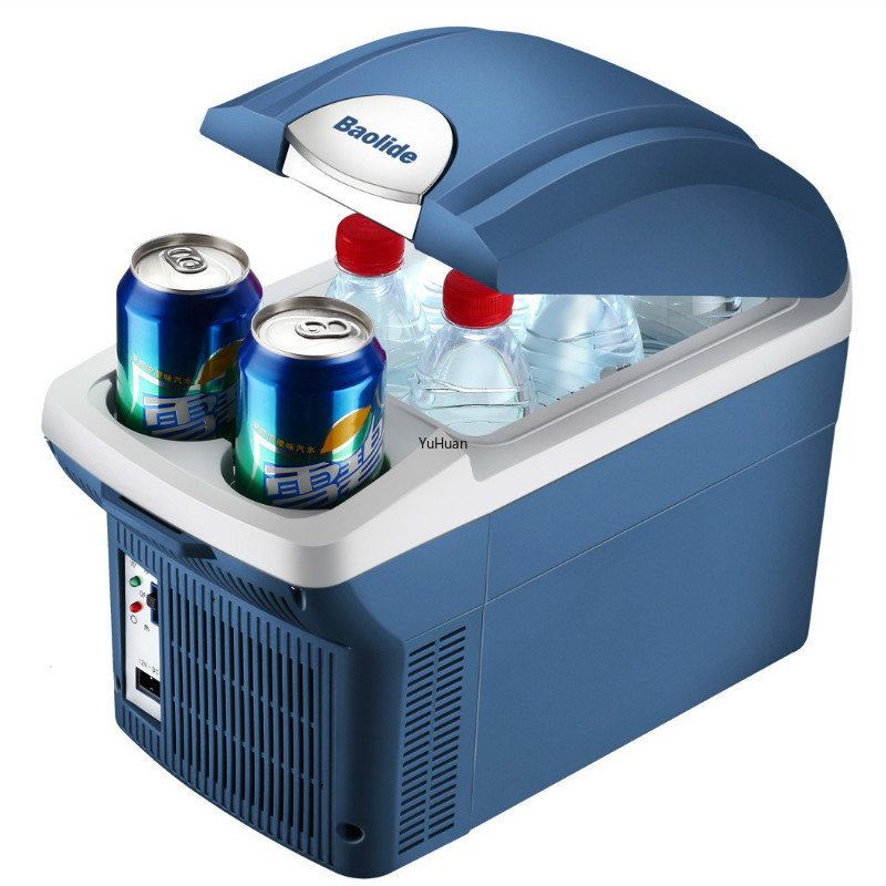 12V Car Refrigerator 8 Liter Home Car Dual-use Hot And Cold Box Car Refrigerator  Mini Refrigerator  Cool  Portable Fridge